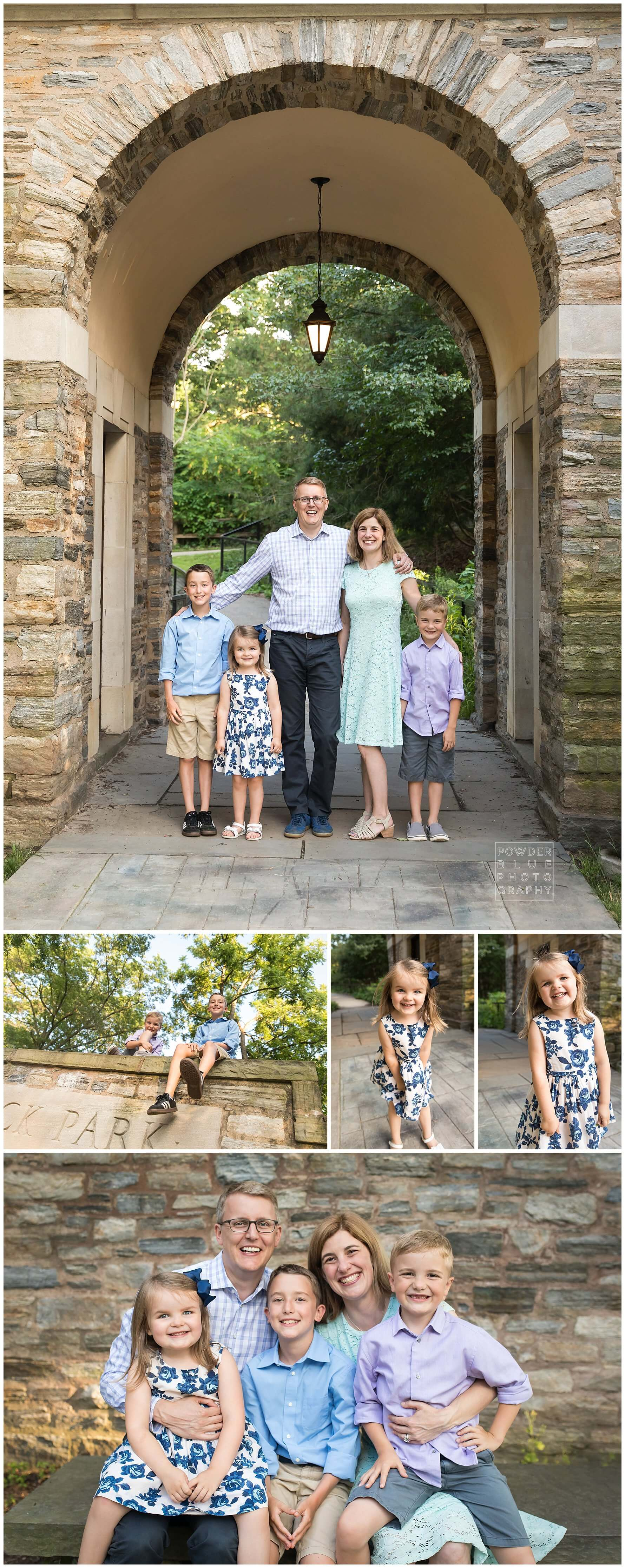 pittsburgh family portrait 70-200 canon lens at f4. on location family at Frick Park