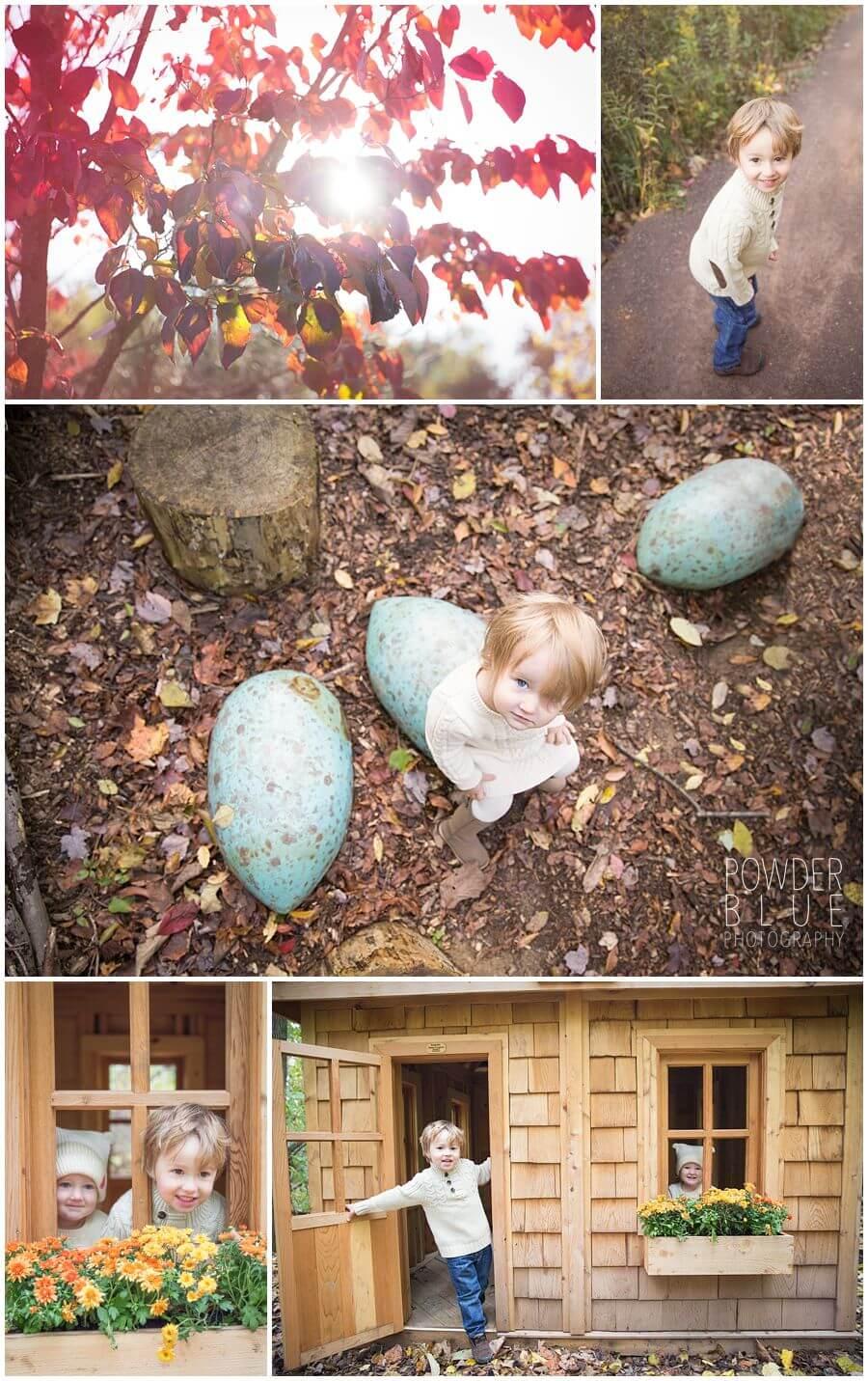 pittsburgh boranic garden family portrait session dinosaur egg