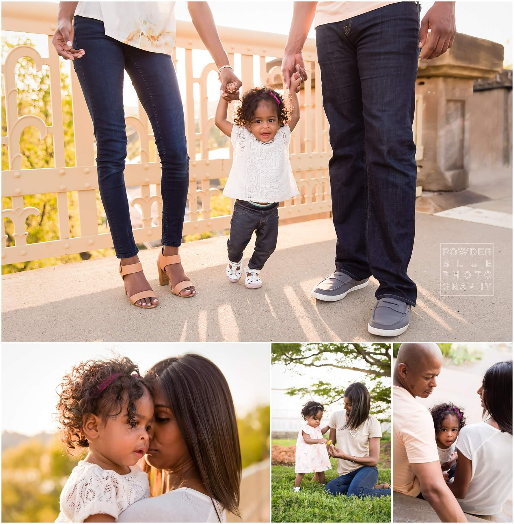 pittsburgh family session at schepley park on the yellow bridge