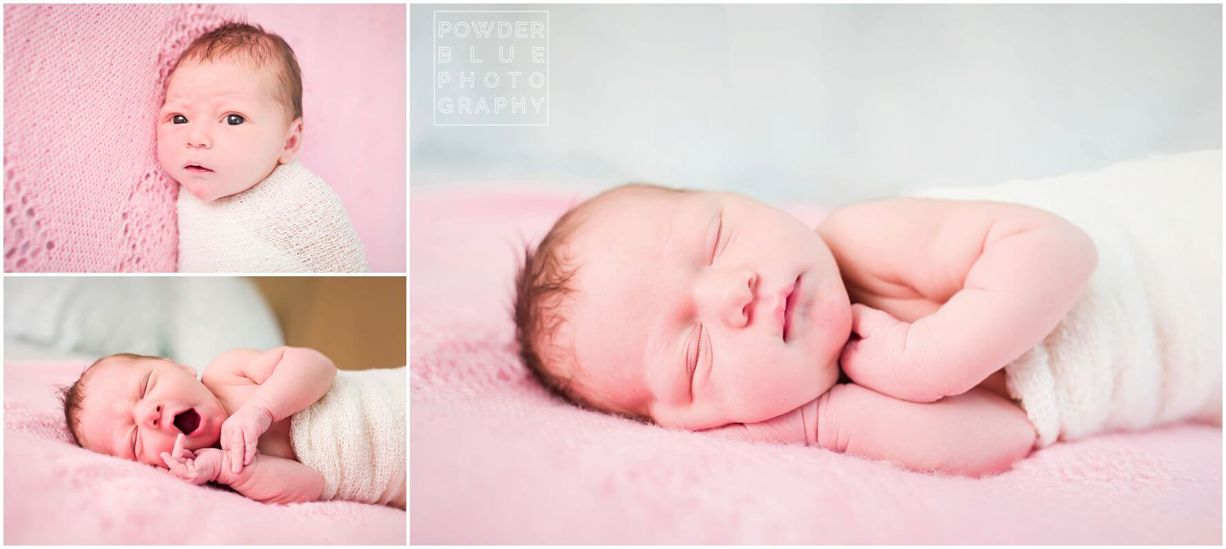 pittsburgh lifestyle newborn photographer in home newborn baby session pink baby girl