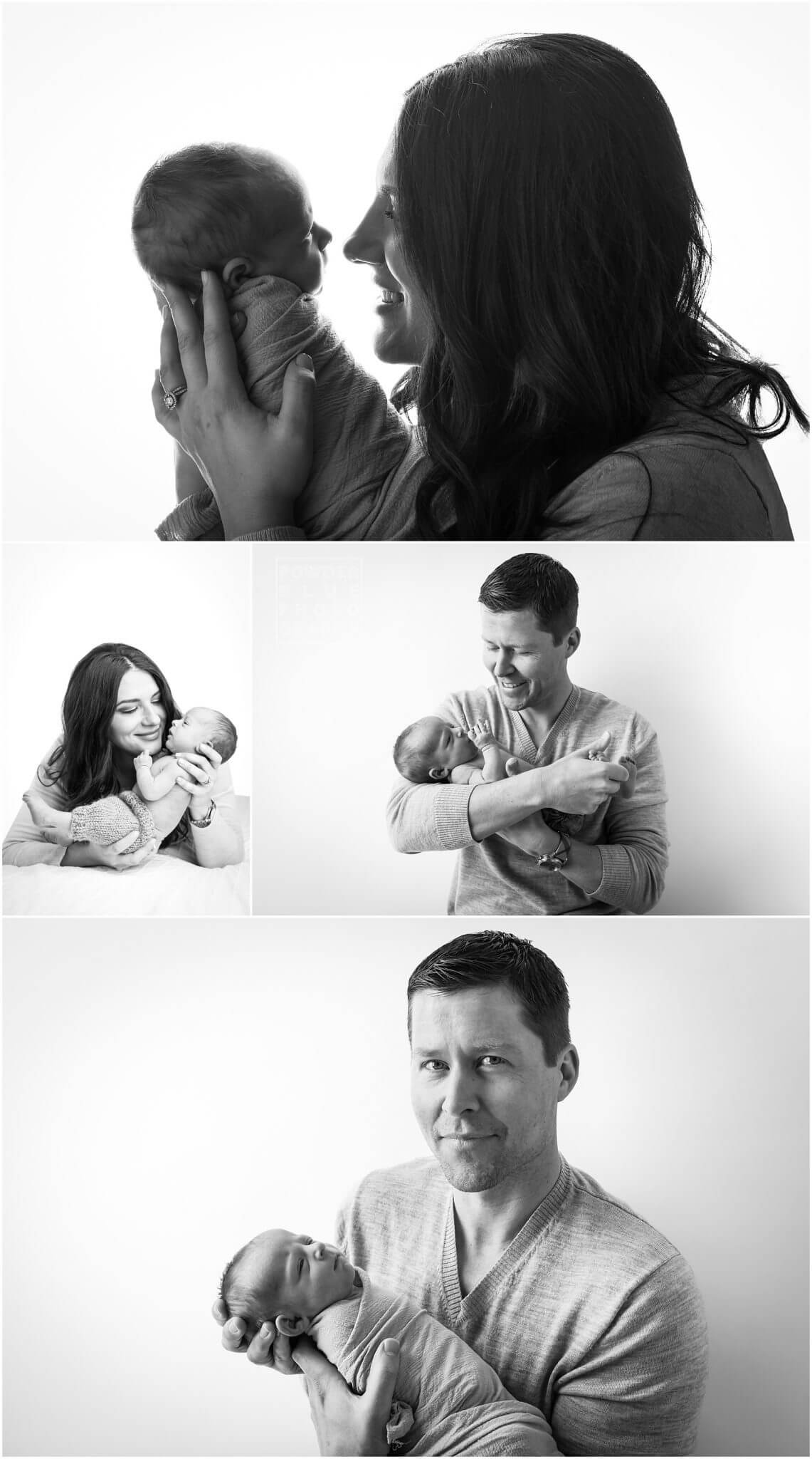 pittsburgh newborn photographer, 10 day old baby boy in studio lifestyle newborn session, neutral brown blanket and grey seamless savage paper backdrop