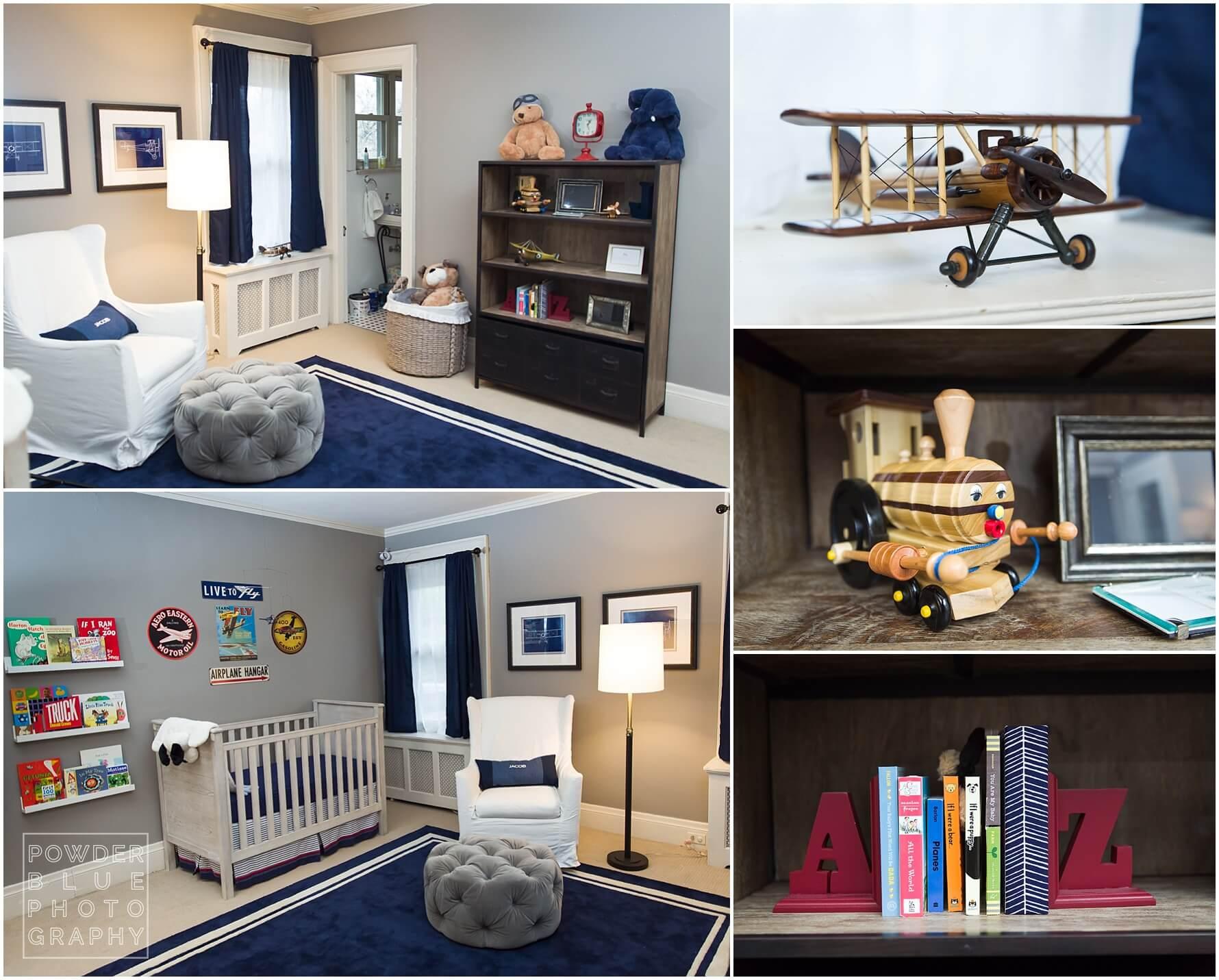 aeronautical baby nursery with furniture from restoration hardware kids.