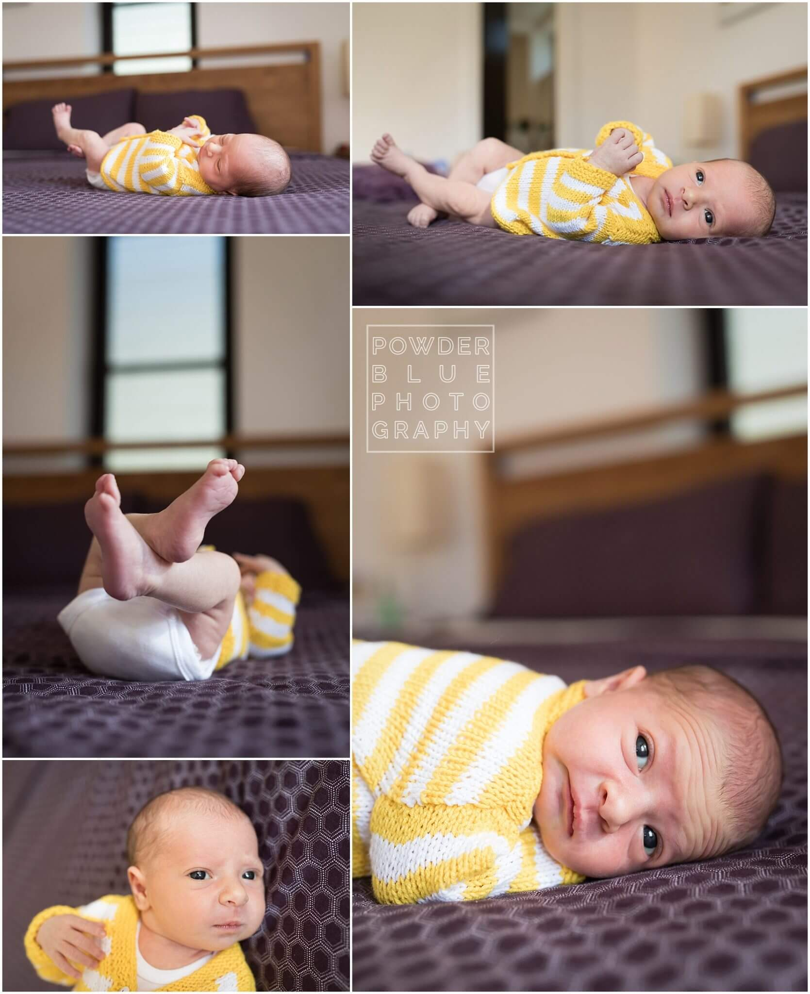 lifestyle newborn portrait with no props