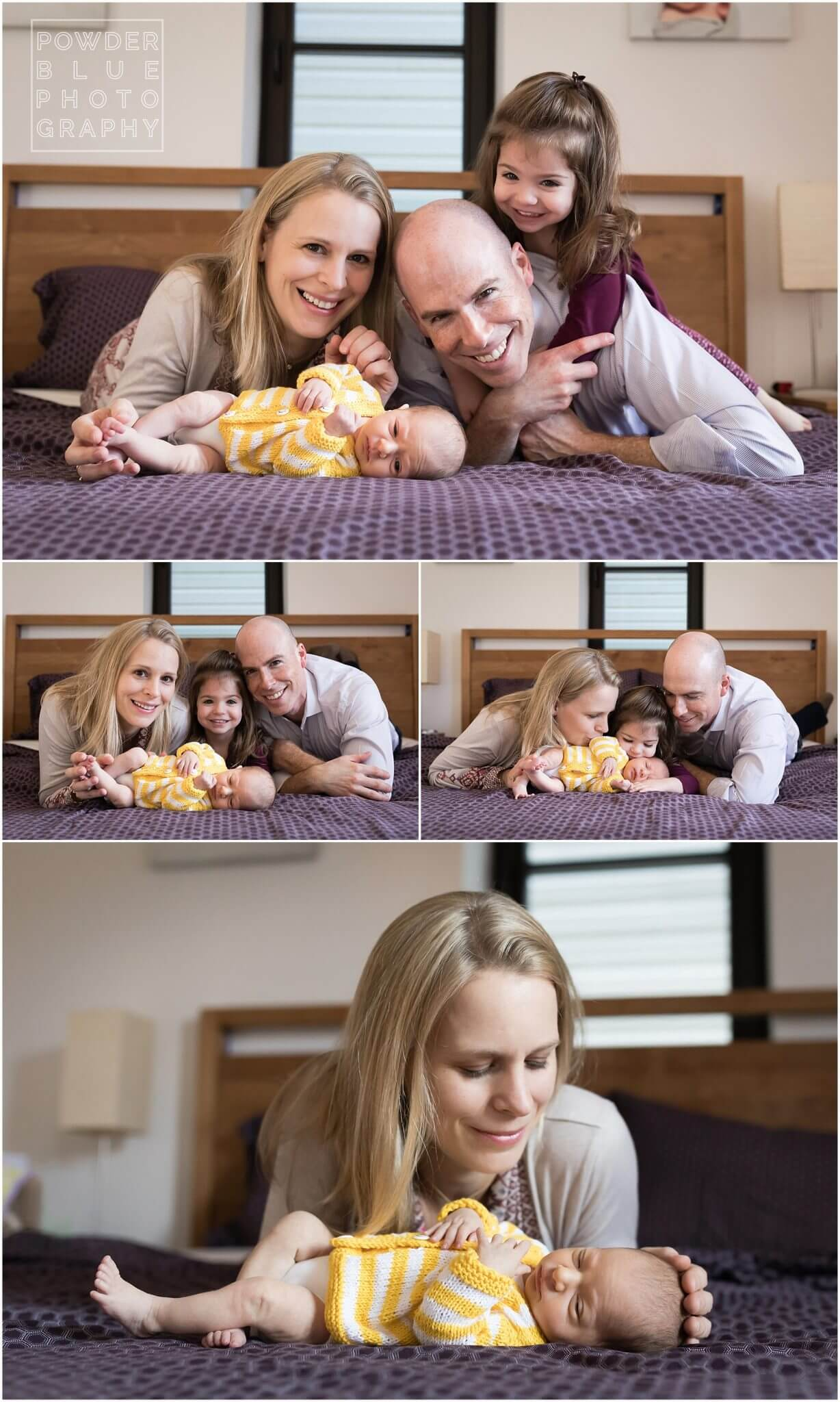 lifestyle family portrait with newborn