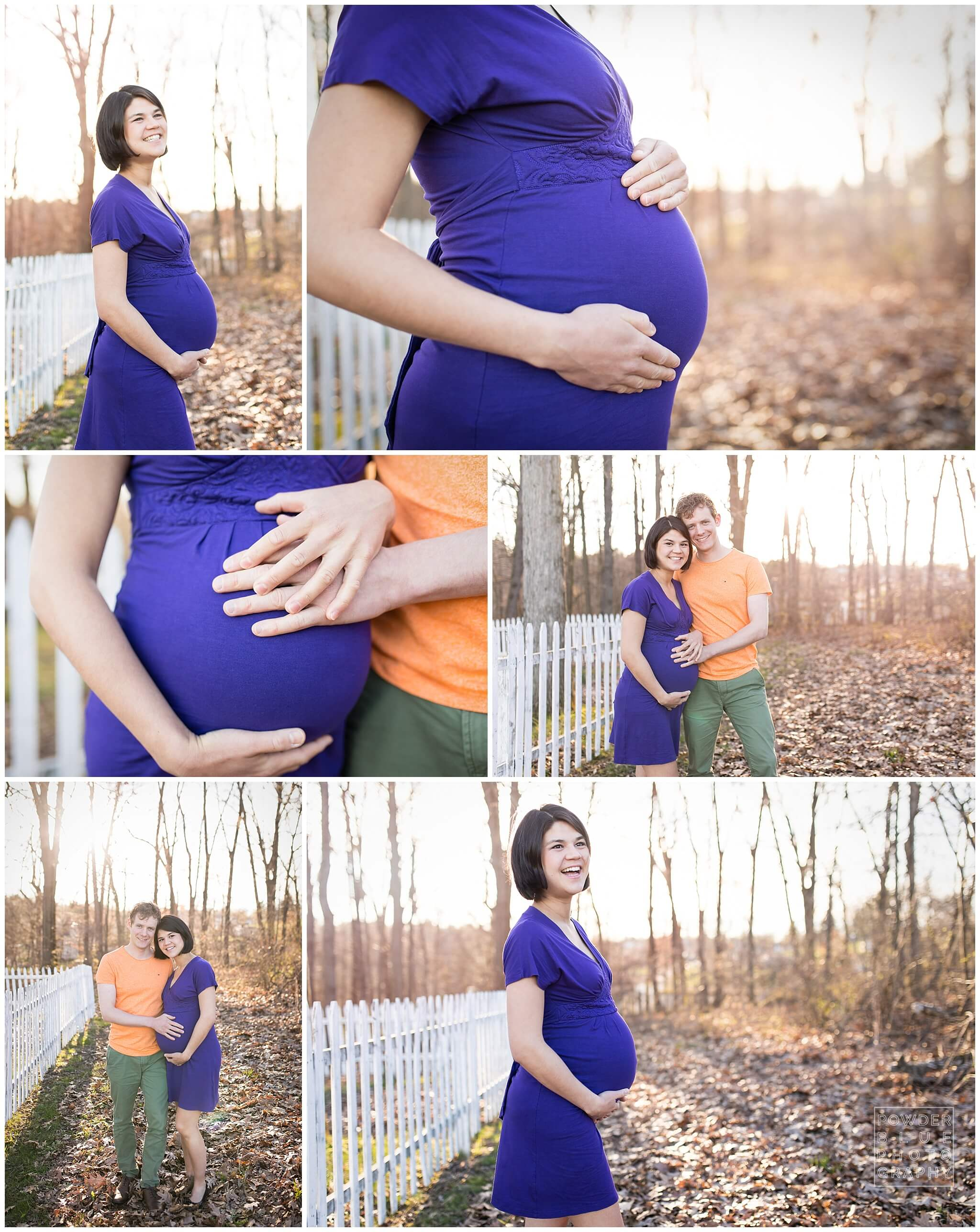 Pittsburgh maternity photography session at nature park.