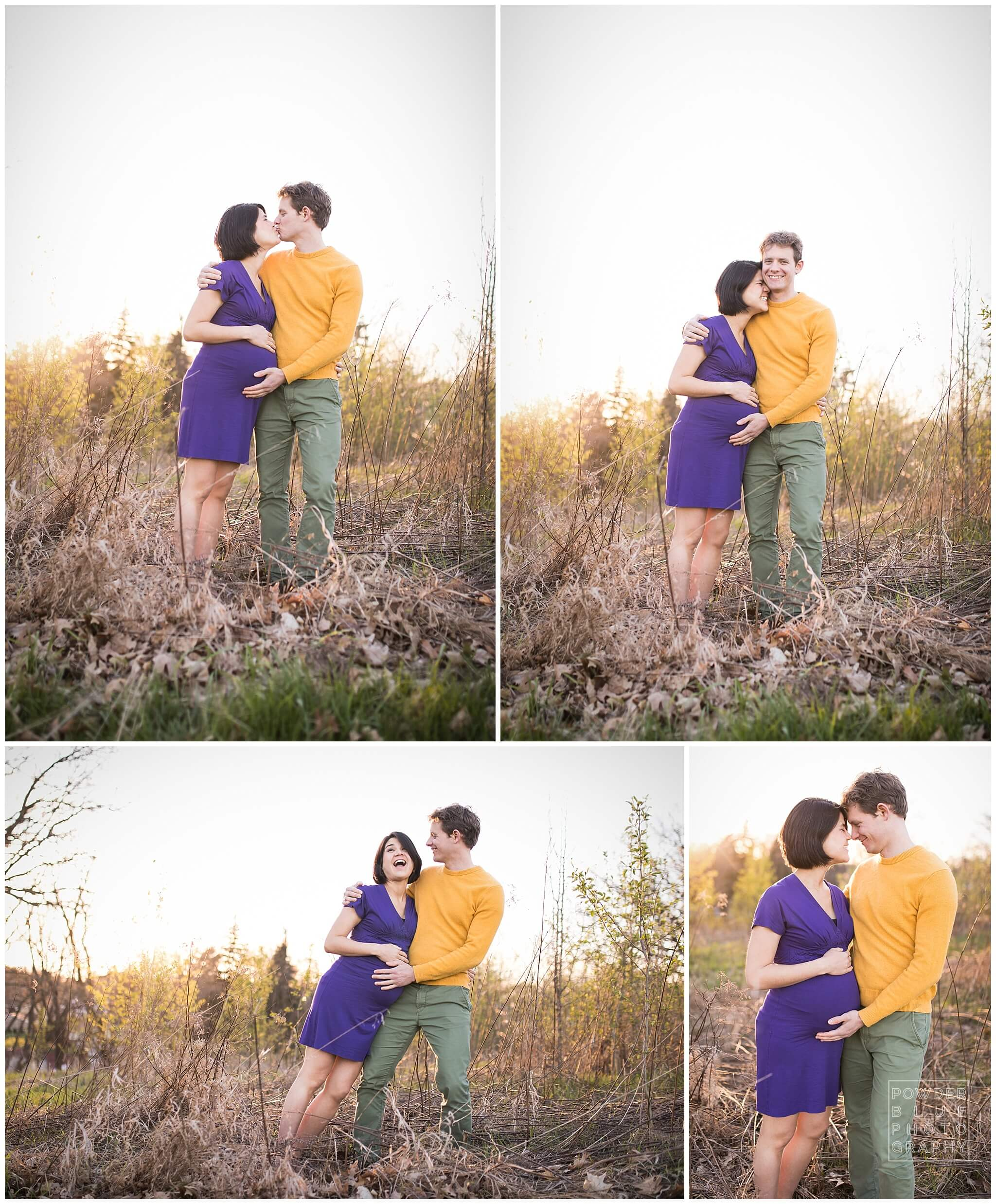 fun creative maternity portrait session images